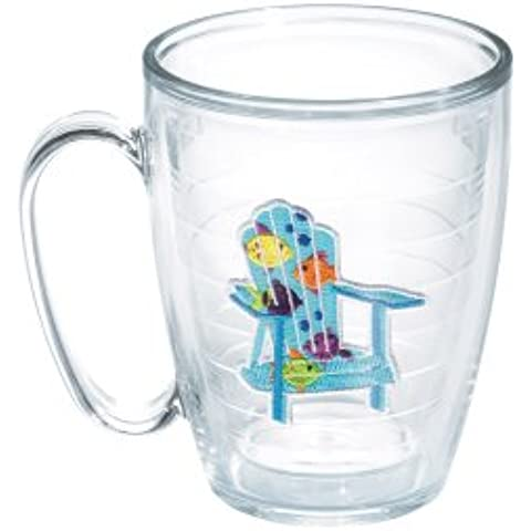 TERVIS Boxed Tumbler/Mug, 15-Ounce, Tropical Fish Adirondack Chairs by Tervis