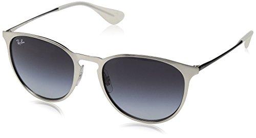 Ray-Ban RAYBAN Unisex-Erwachsene Sonnenbrille 0rb3539 90788g 54, Brushed Silver/Greygradientdarkgrey