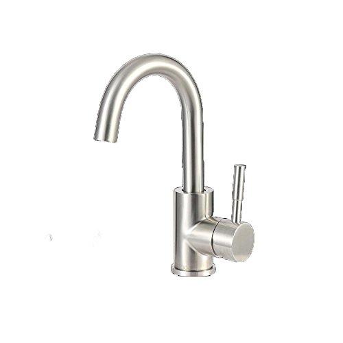 KJHT 304 lavabo in acciaio rubinetto. lavare argento rubinetto del bacino bagno hardware