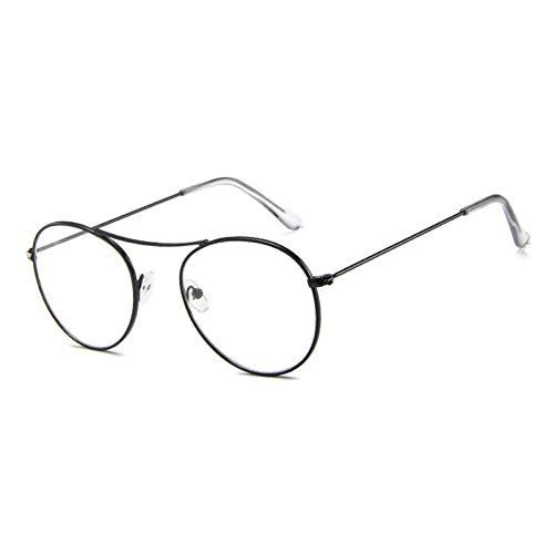 GBST Fashion Women Sunglasses Famous Oval Sun Glasses Female Luxury Metal Round Rays Frames Black Small Eyewear,A1
