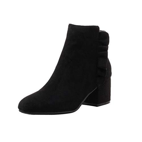 Damen Mode Stiefeletten, Frauen Wild Schuhe Stiefel Party Booties Zurück Reißverschluss Bare Stiefel Plateau Freizeitschuhe Boots Turnschuhe,ABsoar