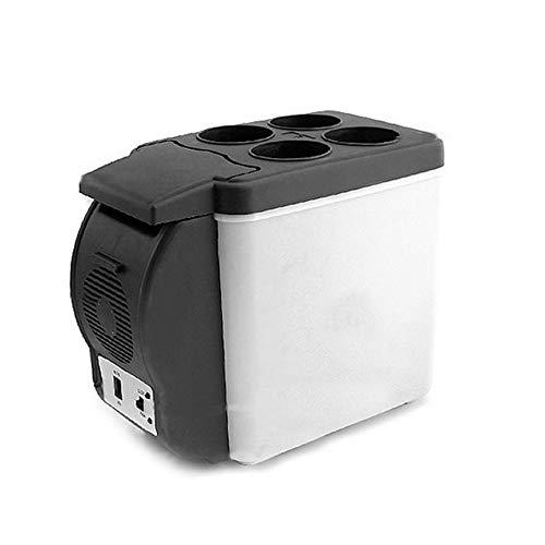 JICHUI 12V 6L Mini Car Kühlschrank Dual-Use-Getränkekühler Warmer ABS Beweglich im Freien Spielraum Freezer Universal-Kühlschrank (schwarz)
