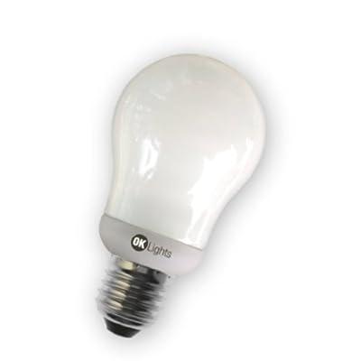 Asuntec OK-Lights Schnellstart-Quality-Longlife Glühbirnenform-Energiesparlampe, 11 Watt=50W Glühb., E27, 650 Lumen, warmweiß mit Swiss Quality Check von Asuntec - Lampenhans.de