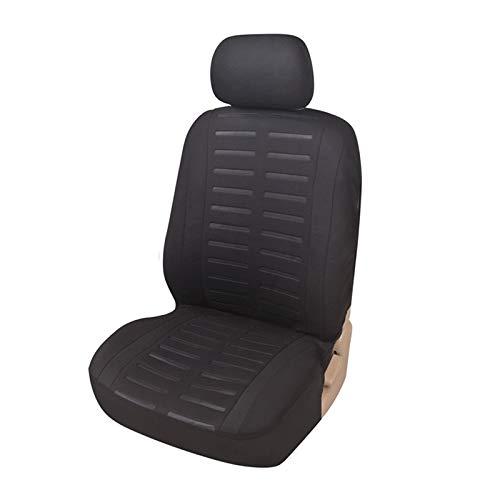 Upgrade4cars Autositzbezug Vordersitz mit Seitenairbag Öffnung | Auto-Sitzschoner Universal für den Fahrersitz | Autositz Schonbezug in Schwarz | Auto-Zubehör Gadget