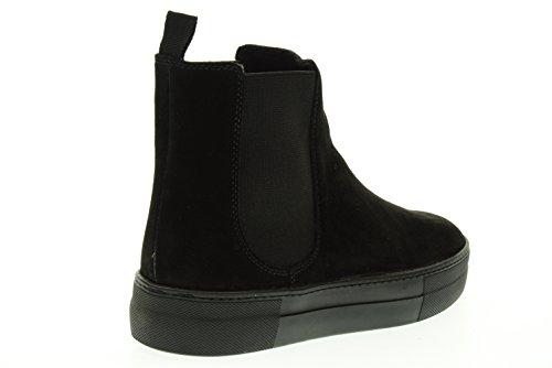 FRAU 40H1 schwarze Stiefel Schuhveloursleder-Ankle-Boots beatles Nero