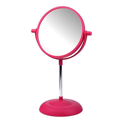 Kosmetik Spiegel Bunt 15cm in 4 Farben wählbar Kosmetikspiegel Schminkspiegel beidseitig, Farbe:Pink