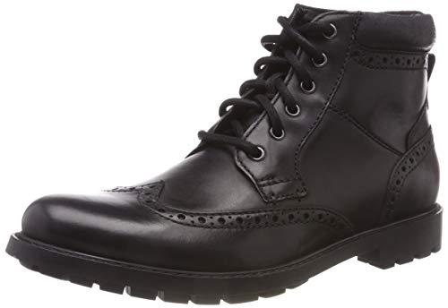 Clarks Herren Curington Rise Chelsea Boots, Schwarz (Blk Smooth Lea), 42 EU