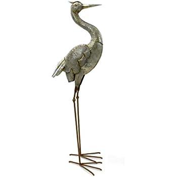 Metall Höhe 74 cm Gartendekoration Storch