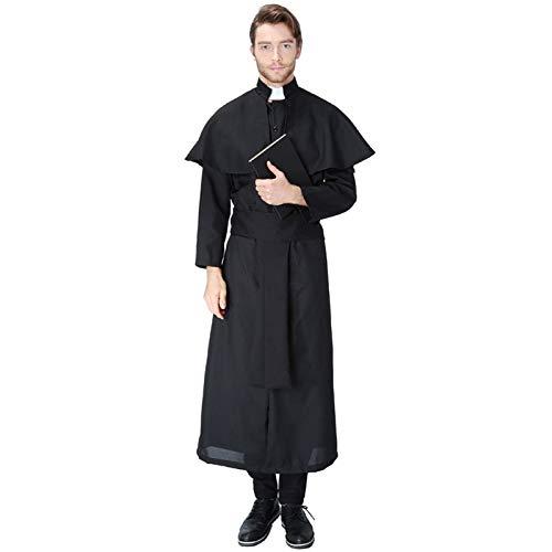 Jesus Kostüm Und Maria - COSOER Vater Nonne Maria Cosplay Kostüm Jesus Christus Missionar Priester Kleidung Für Halloween Männlich/Weiblich Wear,Male1-M