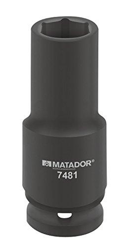 Clé à douille, lang, 12,5 (1/2) : 19 x 78 mm Force de Matador, 7481 0190