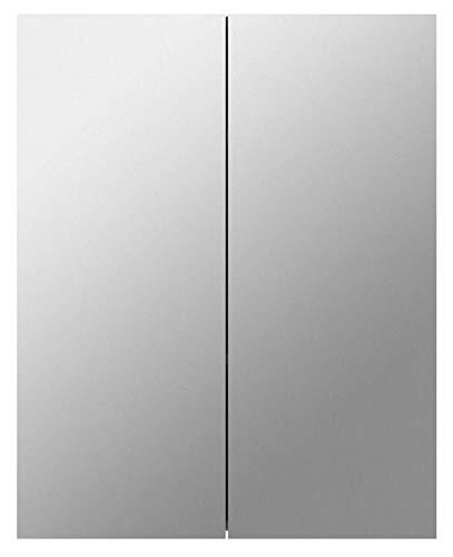 Homcom® Bademöbel Spiegelschrank Badeschrank Hängeschrank Badezimmer Spiegel Schrank (75 x 60 x 15 cm)