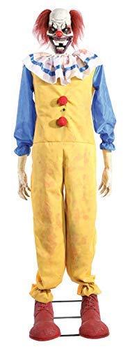 Fancy Me 1.8m (6ft) Zeichentrickfilm Twitching Lachend Clown Lichter Sound Bewegung Talking Zeichentrickfilm Tv Buch Film Horror Gruselig Halloween Party Dekoration Requisite (Bewegung Aktiviert Halloween-dekoration)