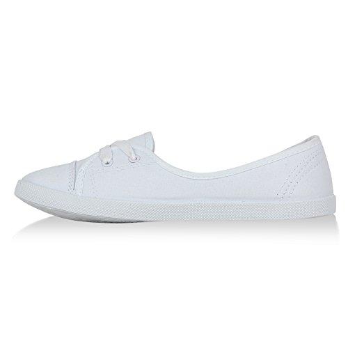 Stiefelparadies - Sneaker Donna Bianco (bianco)