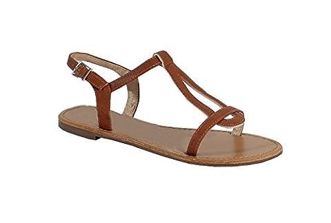 Sandale Style Cuir - No Name - Spéciale Été - Camel - 39 EU