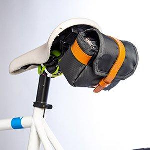 Walco CityChic Fahrrad-Satteltasche - Classic Style Sitztasche für Radfahrer in Orange und Grau