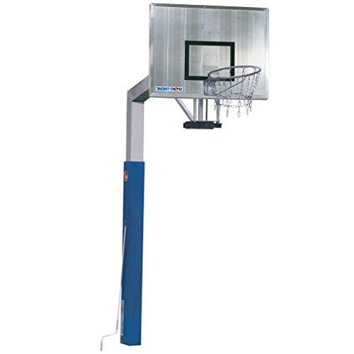 Sport-Thieme® Basketballanlage \'Fair Play Silent\' mit Höhenverstellung, Korb Outdoor abklappbar, 120x90 cm