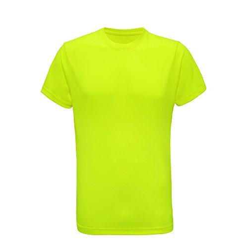 Tri Dri Herren Fitness T-Shirt, Kurzärmlig (L) (Neon Gelb)