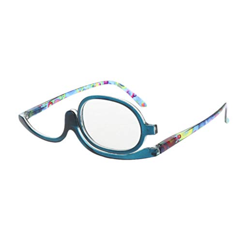Xurgm Lesebrillen,Damen Schminkbrille - Make up Brille,+1,5 +2,0 +2,5, 3,0,+3,5,+4,0 (+2.00, Blau)