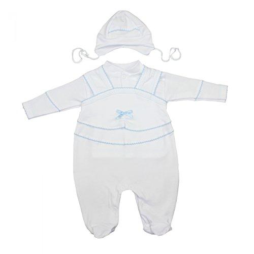 TupTam Unisex Baby Taufbekleidung 3-tlg. Set , Farbe: Weiß / Junge, Größe: 62