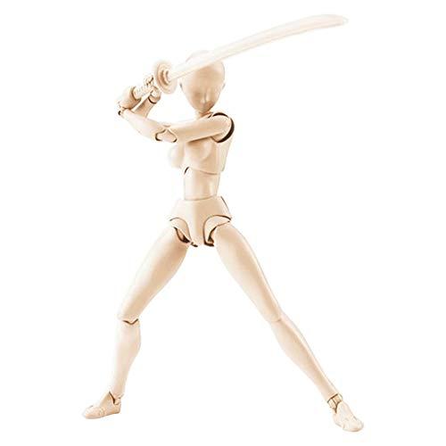 Jamicy Action Figuren Modell, Human Mannequin Körper Kun Puppe Body-Chan Mann/Frau Figuren Doll mit Zubehör-Kit, ideal zum Zeichnen, Mädchen tanzen Schwert Skizzieren, Malerei