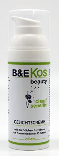 B&E KOS beauty clear/sensitiv Gesichtscreme für empfindliche + zu Unreinheiten neigende Haut, 50ml...