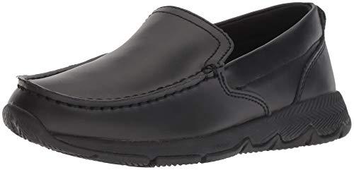 Big School Kids Sneakers (Hush Puppies Boys' School Moccasin TS Field Sneaker, Black, 5 Wide US Big Kid)