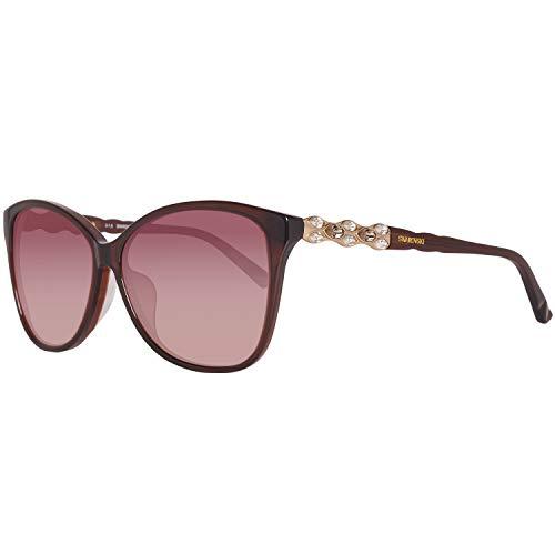 Swarovski Damen SK0085F-6048F Sonnenbrille, Braun (Shiny Dark Brown), 60