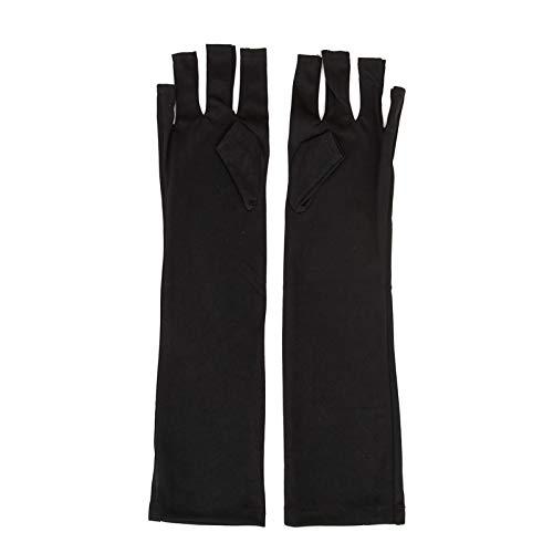 1 Paar Nail Art UV-Schutzhandschuhe UV-Lampe Strahlenschutzhandschuhe Nail Art Trockner Werkzeuge Maniküre Werkzeuge Nail Art Werkzeuge Open-toed Black