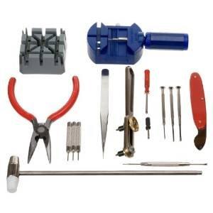 TechCode® 16PCS DELUXE Uhr Öffner Werkzeug Kit Reparatur Pin Entferner -