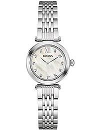 Bulova Diamond 96S167 - Reloj de pulsera de diseño para mujer - Acero  inoxidable - Esfera a372d1151e07