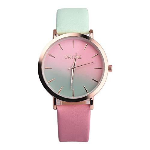 VJGOAL Damen Uhren, Frauen Mädchen Ultradünne Elegant Armbanduhren Mode Trend Minimalistisches Kontrastfarbe Freizeit Watch