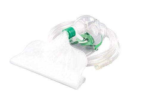 Sauerstoffmaske für Erwachsene mit Reservoir mit Verlängerungsschlauch