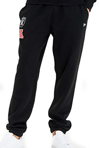 New Era - NFL Oakland Raiders Team Apparel Jogginghose - Schwarz Größe L, Farbe Schwarz