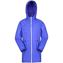 Mountain Warehouse Torrent Chaqueta Impermeable Largo Para Niños Azul 11-12 Años