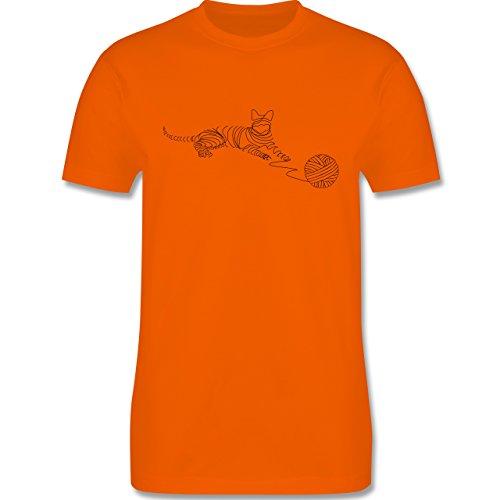 Katzen - I love cats - Herren Premium T-Shirt Orange