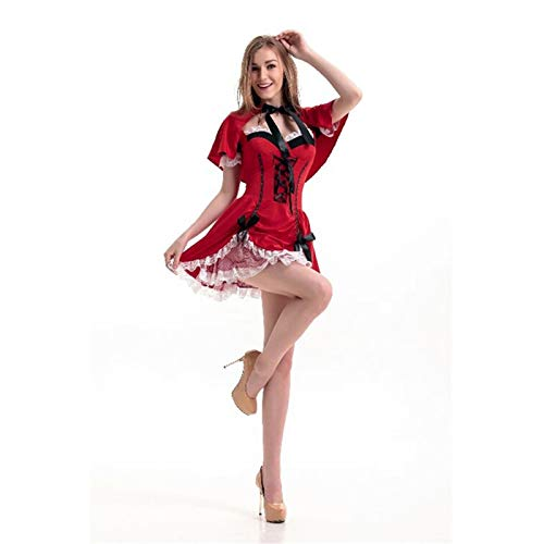 ZLHZYP deguisement Halloween Halloween Hood Costume Cosplay Costume Princesse Costume De Noël Uniforme Partie Femme Adulte Qualité Robe, B (Kostüm D'halloween Pour Animaux)