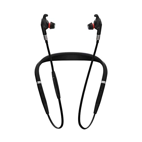 Jabra Evolve 75e UC kabellose In-Ear-Kopfhörer Neckband Bluetooth für PC/Laptop/Tablet/Smartphone mit ANC, Sprachassistent für Siri/Google Now, Unified Communications optimiert Jabra Bluetooth-adapter