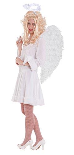 Karneval-Klamotten Engel Kostüm Damen sexy kurz weiß Karneval Engelskostüm Damenkostüm Kleid Größe - Schnee Motto Party Kostüm