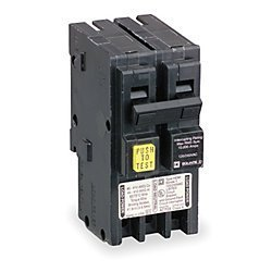 Square D Ground Fault Circuit Breaker, HOM250GFI by Square D Square D Circuit Breaker