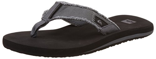 Quiksilver Monkey Abyss, Men's Flip Flop, Black (Grey/Black/Brown), 8 UK
