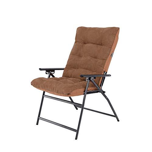 Pliant, canapé, Chaise, Balcon, Bureau, Cour, Repose-Pieds, capacité de Charge maximale 150Kg (Color : Brown)