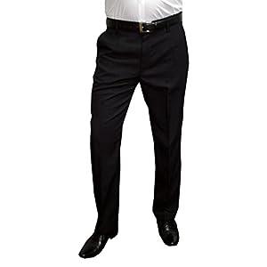 Mens Fashion Herren Anzughose Hose mit Bundfalte, in untersetzten Größen