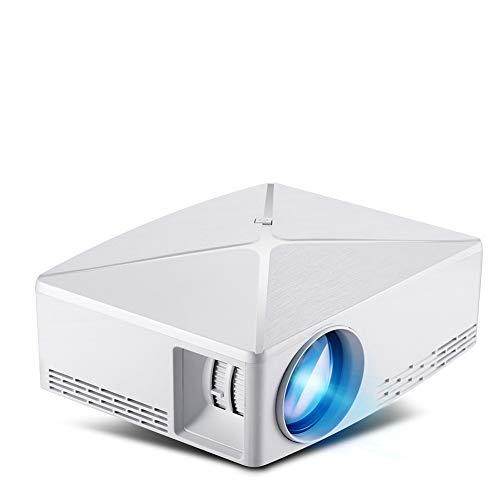 DZSF Mini Projektor C80 Up, 1280X720 Auflösung, Android WiFi Proyector, LED tragbarer HD 3D Beamer für zu Hause unterstützt 1080P (Weiß)