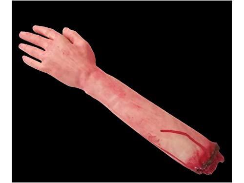 Komisch Simulation Arm Requisiten Körperteil Orgel Horror Bloody Zombie Streich Spielzeug Dekorationen für Halloween (Big Blood Hand) für die Dekoration