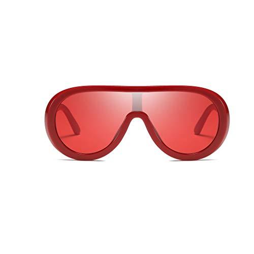 Oversized Sonnenbrille Vintage Polarisierte Retro Fashion Unisex Eyewear Brille Big Frame Sonnenbrille Outdoor Brille Verspiegelt Pilotenbrille UV400 Schutzbrille für Damen und Herren