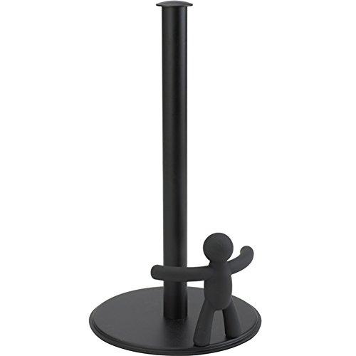 Frei stehende metall beweglich rollenhalter,Gewebe-rack süße persönlichkeit einfach kreative bad küche toilettenpapierhalter-schwarz 18x34cm(7x13inch) Frei Stehende Box