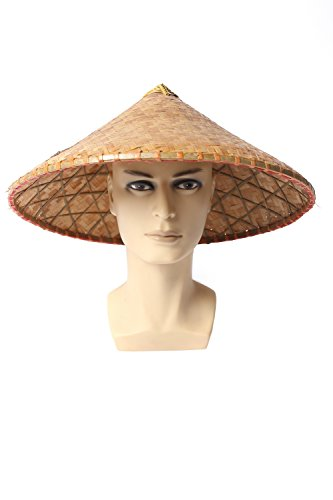 DRESS ME UP - DH-004 Hut Strohhut Bambushut Kegelhut Conical Hat China Vietnam Japan Asien Chinese Reisbauer Fischer