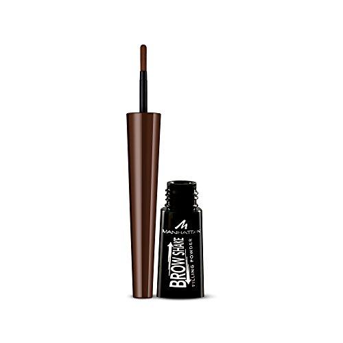 Manhattan Brow Shake Filling Powder, 003 Dark Brown, Augenbrauenpuder für definierte Augenbrauen