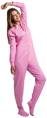 Gaggohaas Füssli-Pyjama Schlafanzug mit Füssen Unisex rosa (XL)