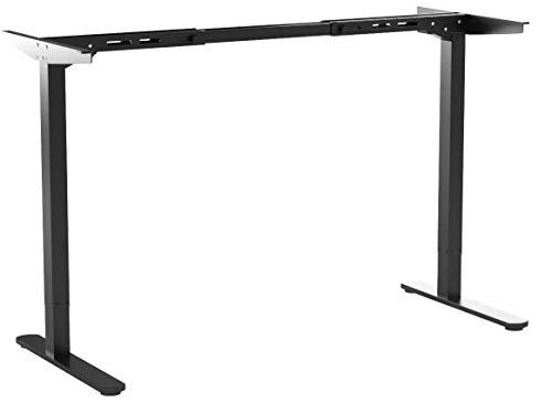 Flexispot Höhenverstellbarer Schreibtisch Elektrisch stufenlos höhenverstellbares Tischgestell mit gratis Memorysteuerung und Soft-Start/Stop (Schwarz)